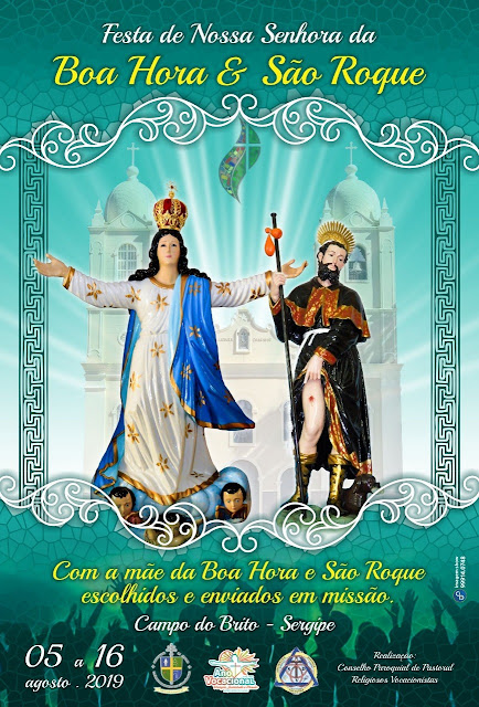Cartaz Festa de Nossa Senhora da Boa Hora e São Roque - 2019