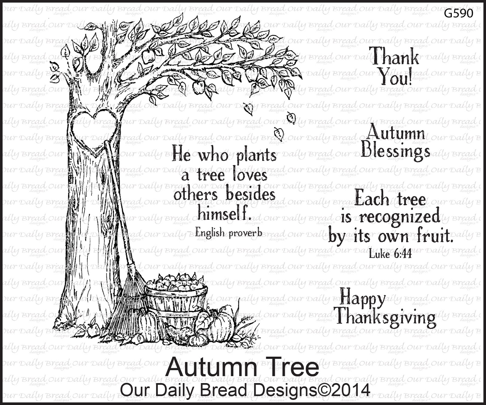 Stamps - Our Daily Bread Designs Autumn Blessings