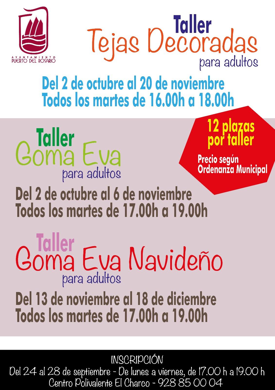 37c18184a51 Puerto del Rosario   Talleres de Goma Eva y Decoración de Tejas en el  Centro Polivalente El Charco