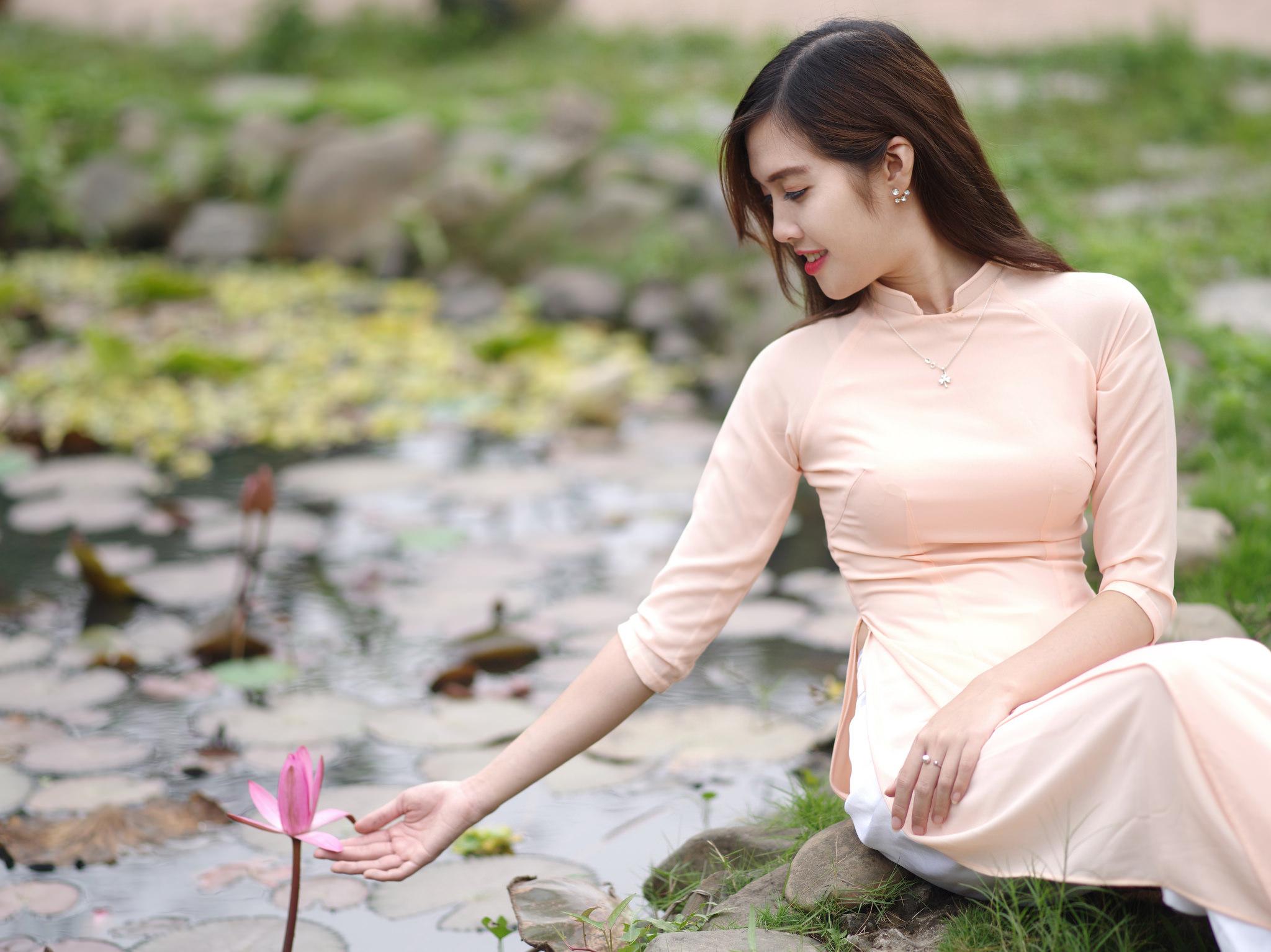 Tuyển tập girl xinh gái đẹp Việt Nam mặc áo dài đẹp mê hồn #60 - 5