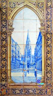 Plaza de España - Sevilla - Azulejo de Guipúzcoa: Torre del Buen Pastor