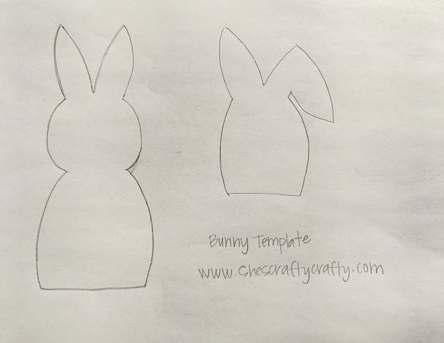 Template to make bunnies for Easter Decor