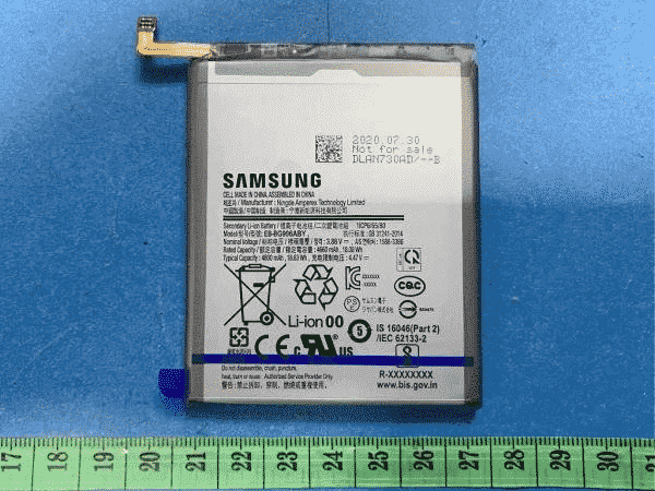 Samsung Galaxy S21+ Battery Spotted with 4,800mAh Capacity