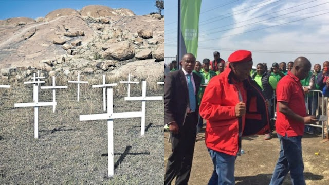 Marikana mine workers' families offered R100m settlement after EFF intervention