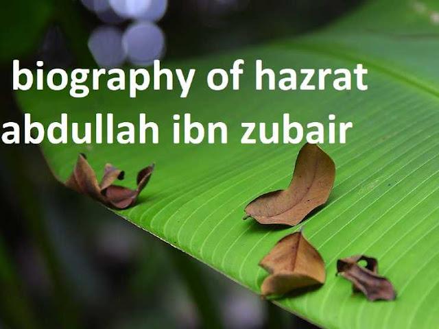 biography of hazrat abdullah ibn zubair
