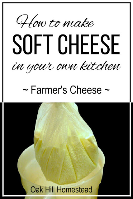 Learn how to make soft cheese such as this farmer's cheese (also known as lemon cheese). Soft cheese doesn't need a cheese mold or aging time, and can be used a substitute for ricotta or cottage cheese, or as a dip for crackers or chips.