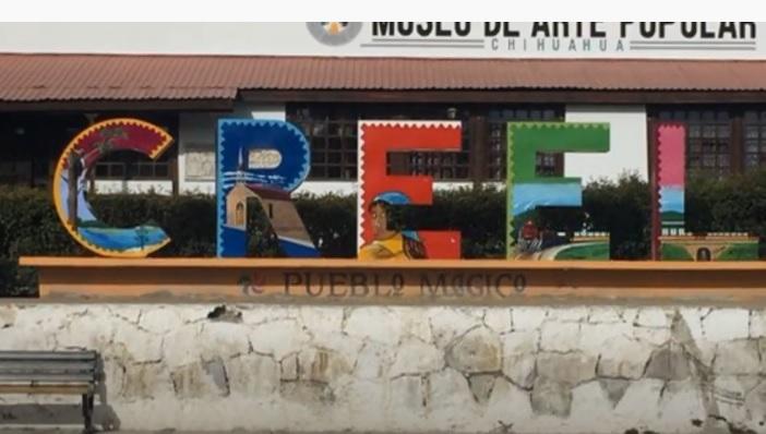 Creel Pueblo Magico en Chihuahua Letras en el Centro