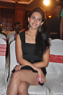 Rakul Preet Singh Spotted in a Black Short Dress