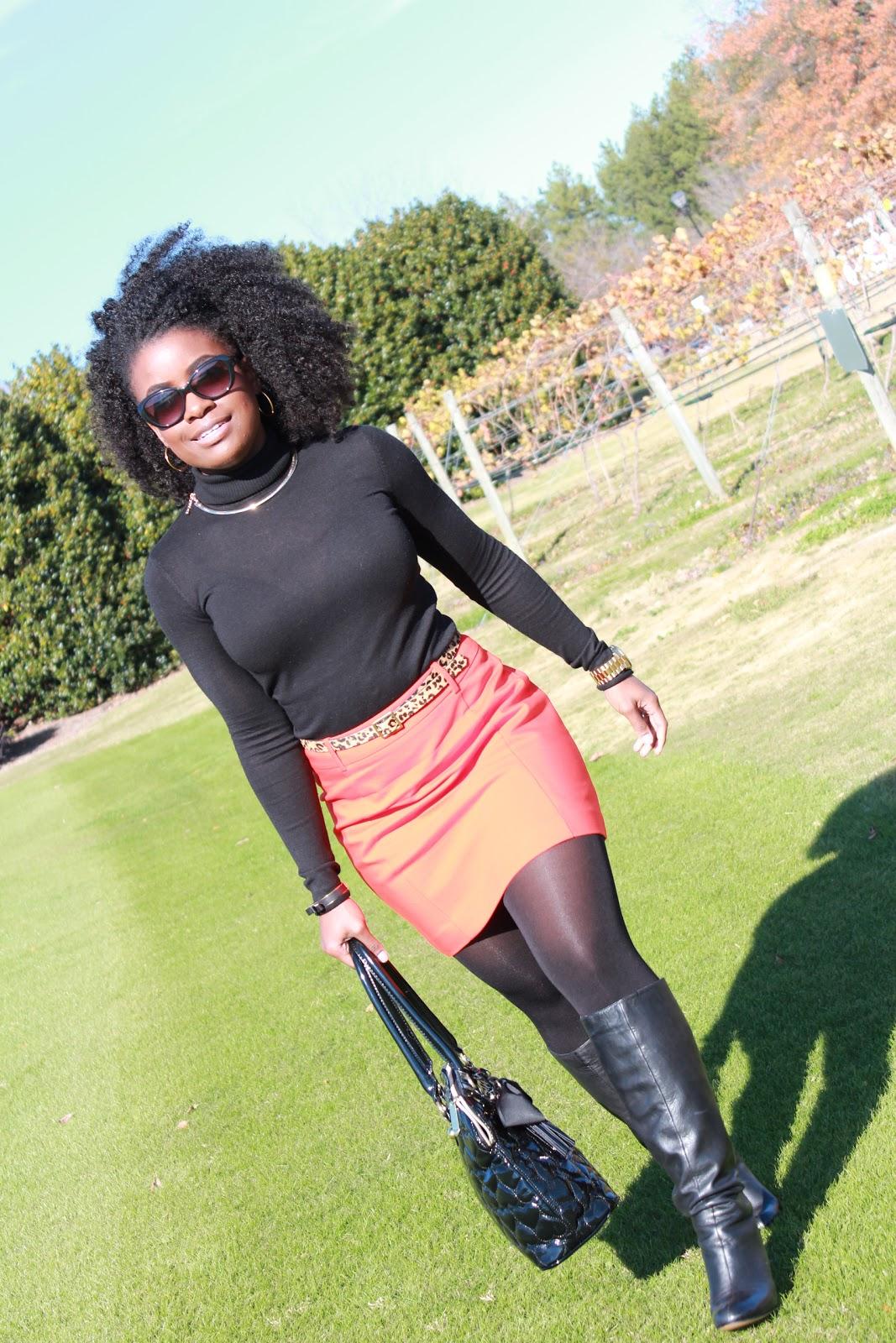 Chastity Lynne Wearing Jean Skirt