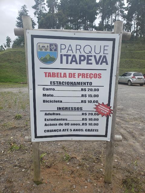 Parque Pico do Itapeva tabela de preços