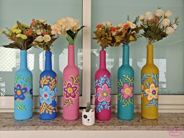 Pintura em garrafas