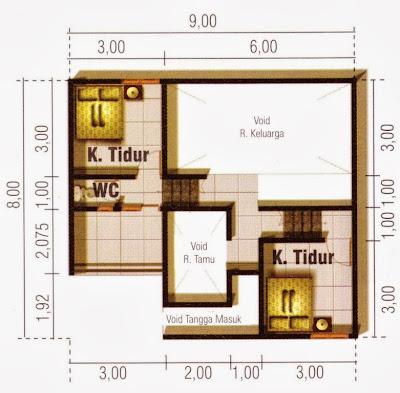 yang telah kami berikan pada postingan sebelum denah rumah ini Denah Rumah Minimalis 3 Lantai 100 m2