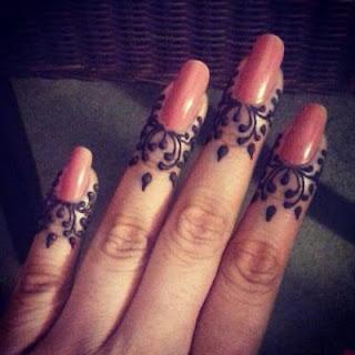 Easy Mehndi designs fingers