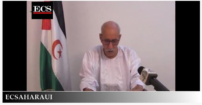 Brahim Ghali responsabiliza a la ONU de proteger a los saharauis que viven en los territorios ocupados y así como a presos políticos.