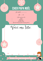 gratuit, modéles, lettre, lettre au pere noel, pere noel, liste de noel, cadeau, folle blogueuse