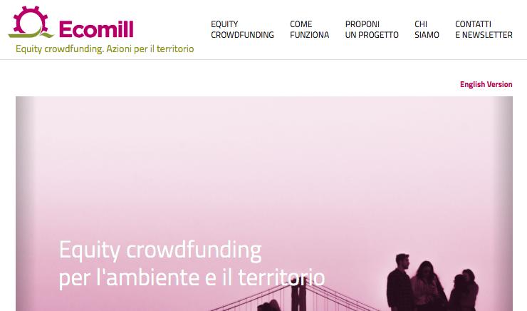 Arriva Ecomill, il primo portale di equity crowdfuding su energia, ambiente e territorio