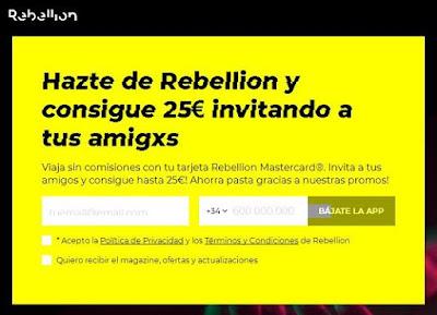 Pide tu tarjeta Rebelion gratis
