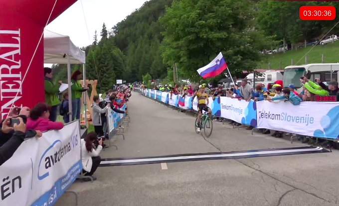 Roglic ganó el Campeonato de Eslovenia en línea