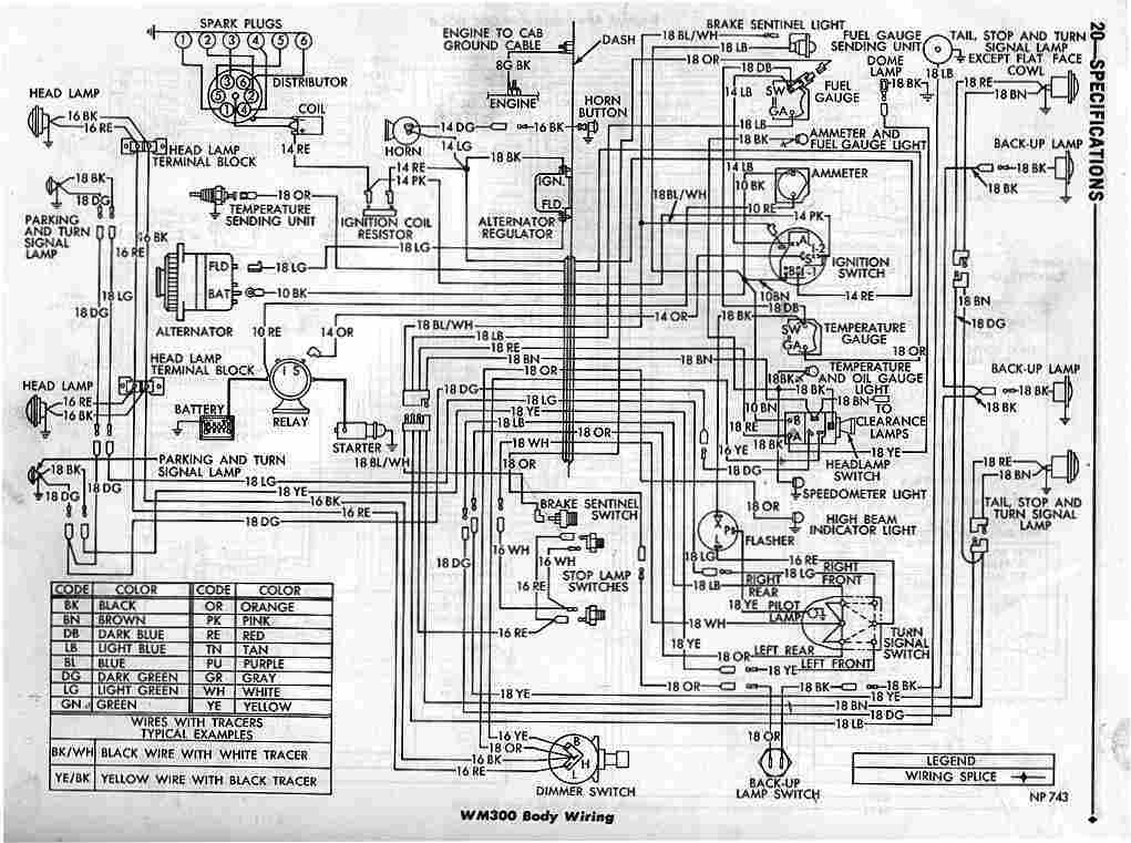 Dodge Power Wagon WM300 Body Wiring Diagram | All about