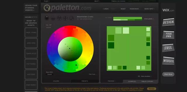 Paletton: Una de las mejores opciones para poder combinar colores