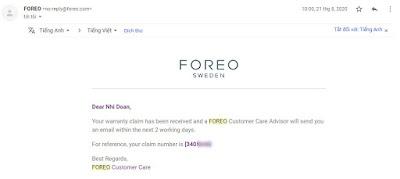 Bước 3: Trao đổi với nhân viên chăm sóc khách hàng (NVCSKH) của Foreo.