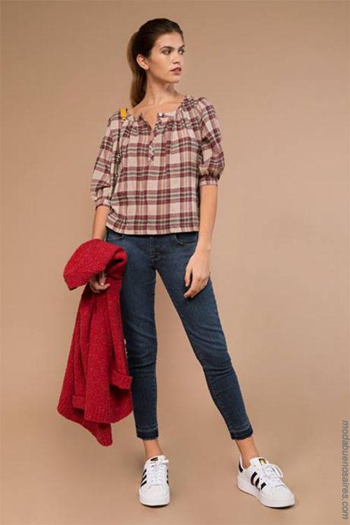 Camisas invierno 2018 ropa de mujer. Moda 2018.