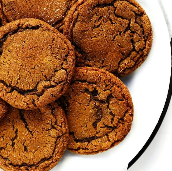 CHEWY GINGER MOLASSES COOKIES #desserts #glutenfree