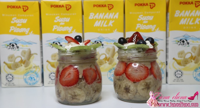 Banana Chia Puding With Strawberry