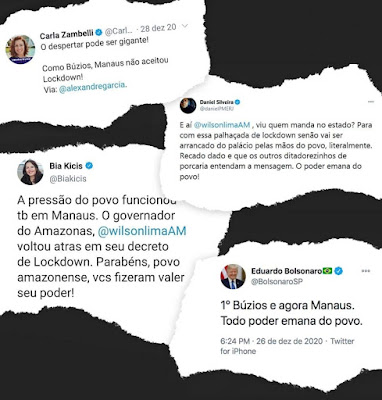 "Para negacionistas, lockdown em Manaus era ""palhaçada"""