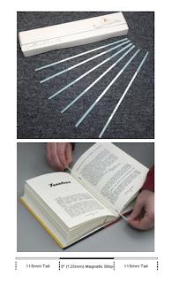 bibliotheca圖書安全系統專用磁碼條,圖書安全感應磁條,bibliotheca,書,12.5公分,LY-B3-B