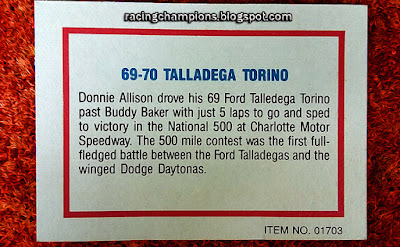 #51 Racing Champions 1/64 Ford Talladega Torino NASCAR blog Robert Dods Boyd Meyer Peter Chang