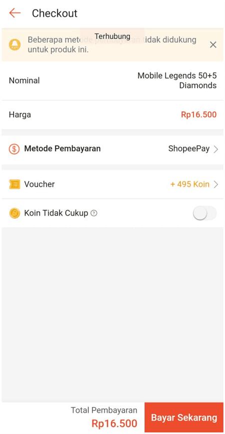 metode pembayaran di shopee