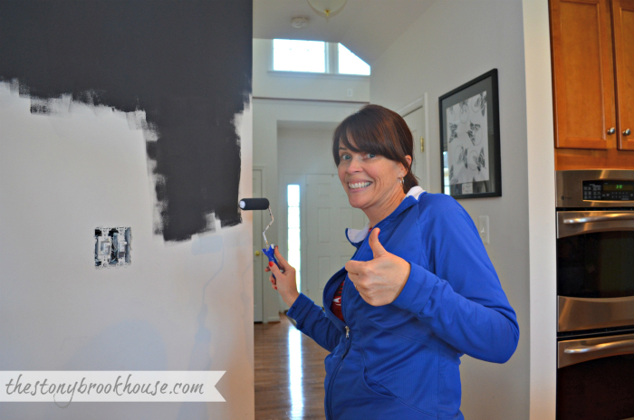 Painting Chalkboard Wall