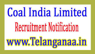Coal India Limited Recruitment Notification 2017