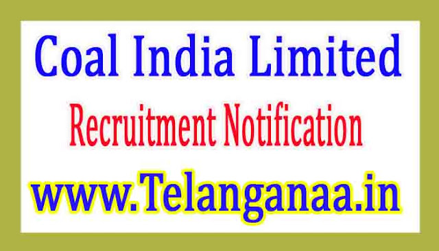 Coal India Limited Recruitment Notification