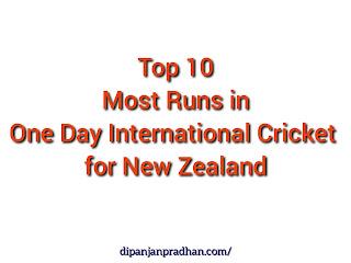 10 Highest ODI Run Scorer in New Zealand Cricket History