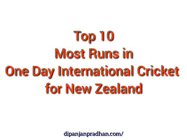 Uuden-Seelannin Kriketin 10 Parhaan Juoksupisteen Tekijä