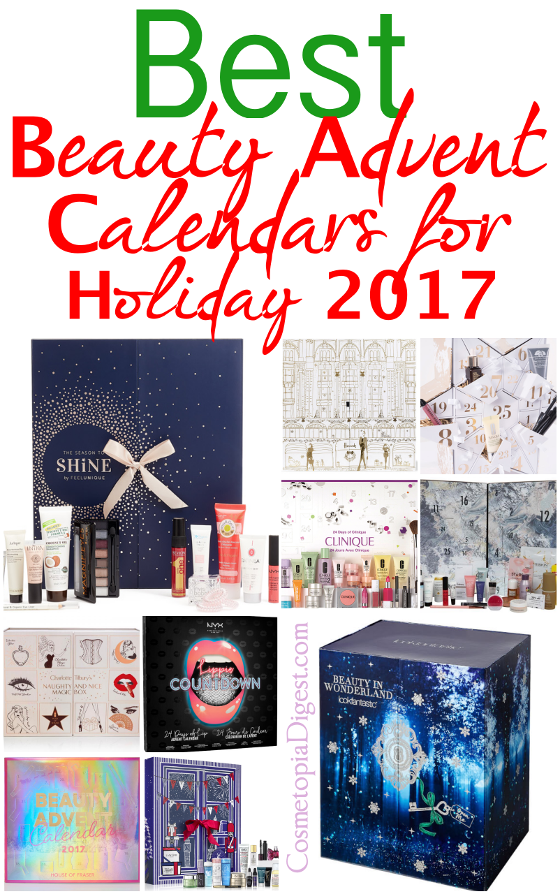 15 top Beauty Advent Calendars for Holiday 2017 that ship worldwide: prices, contents, spoilers, and more.