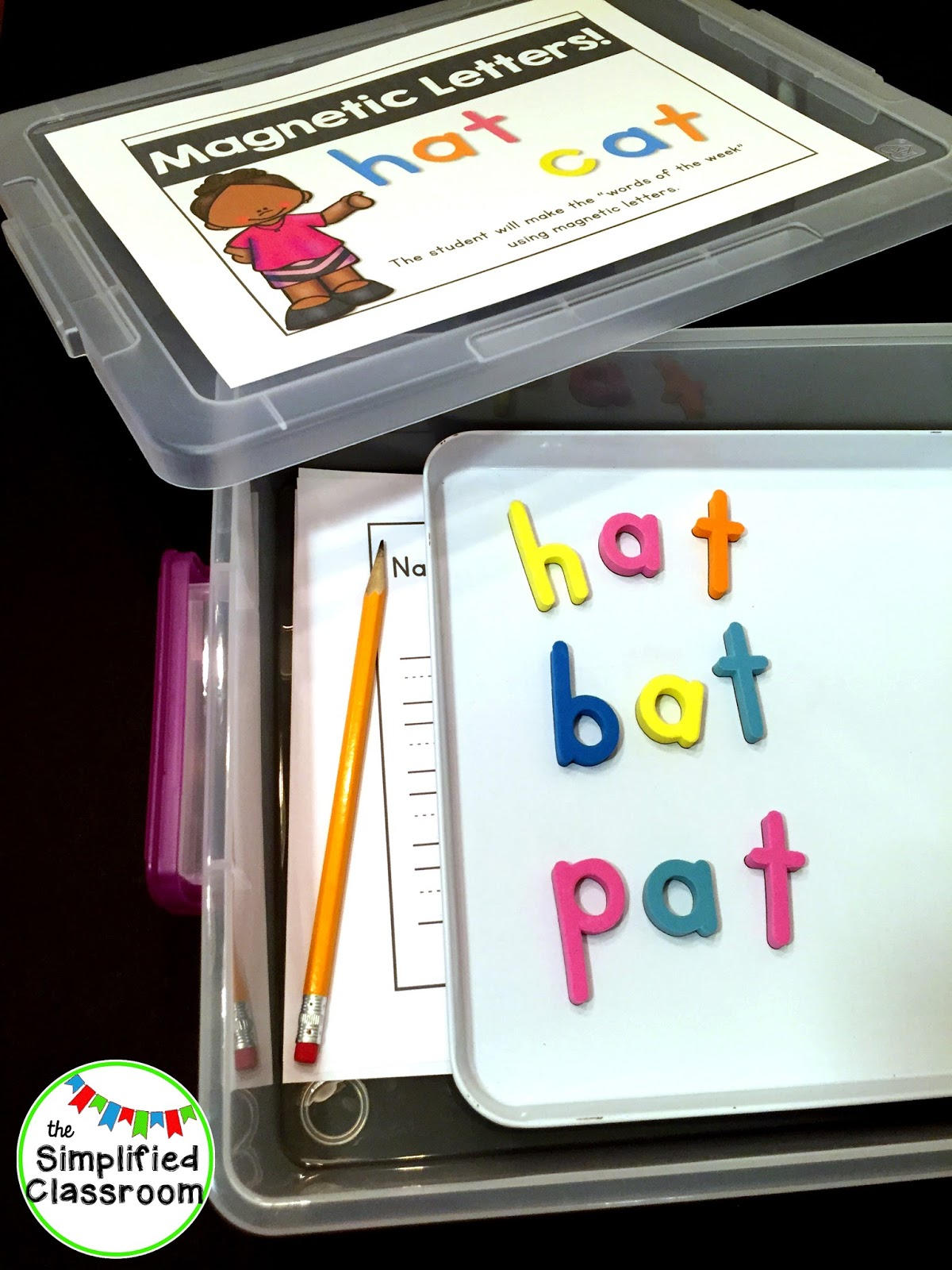 the simplified classroom magnetic letters center for all year