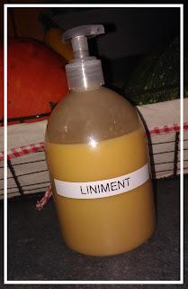 liniment fait maison eau de chaux et huile d'olive