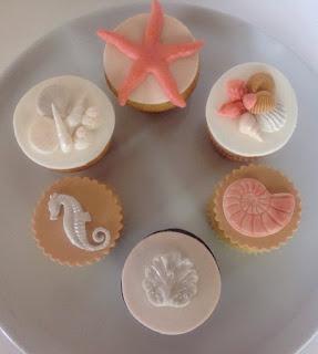 Cupcakes para Bodas en la Playa