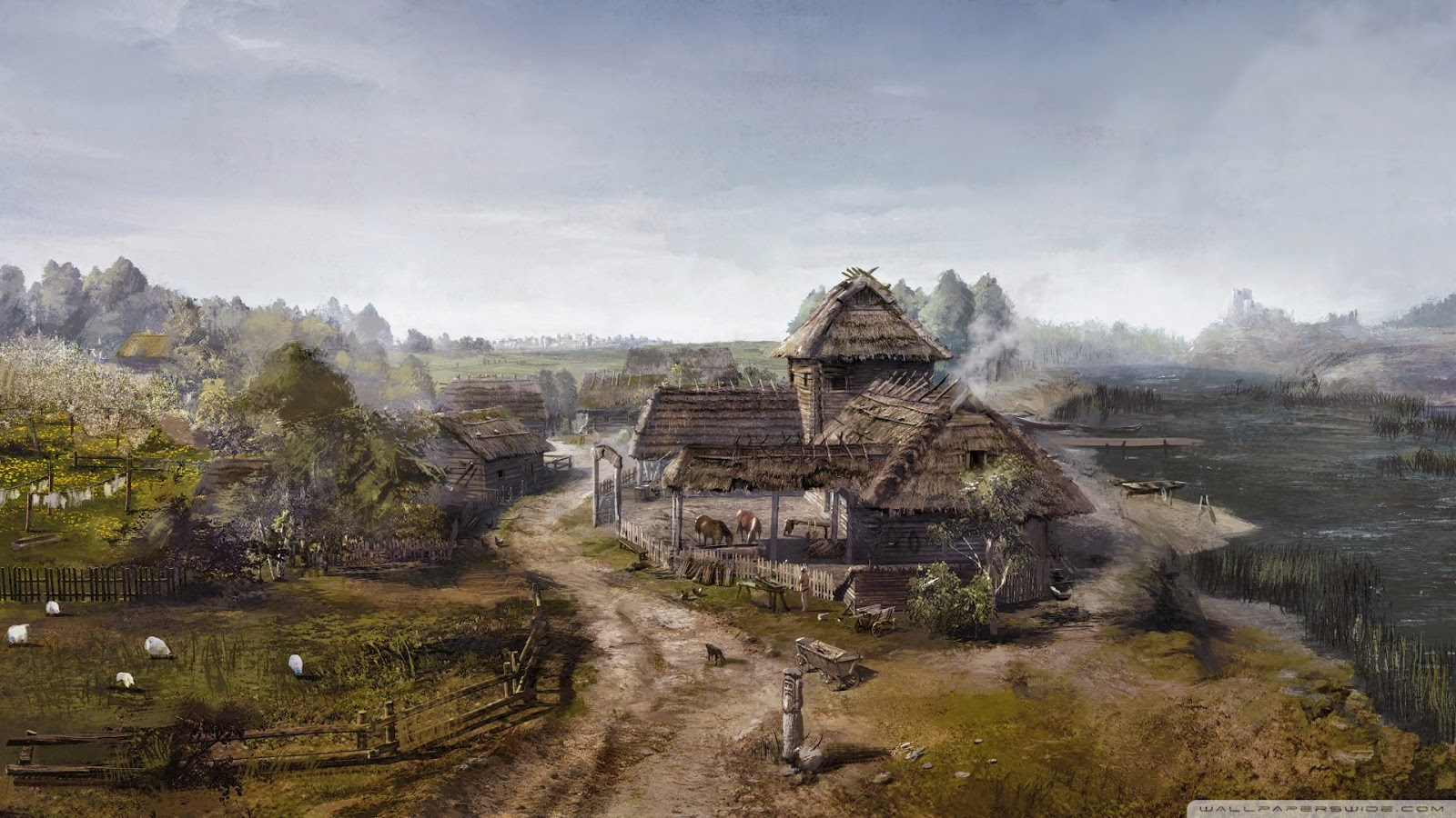 Concept art Witcher 3