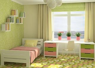 Contoh kamar warna hijau sage