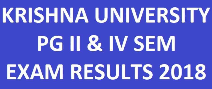 Krishna University PG 2nd & 4th Sem Results