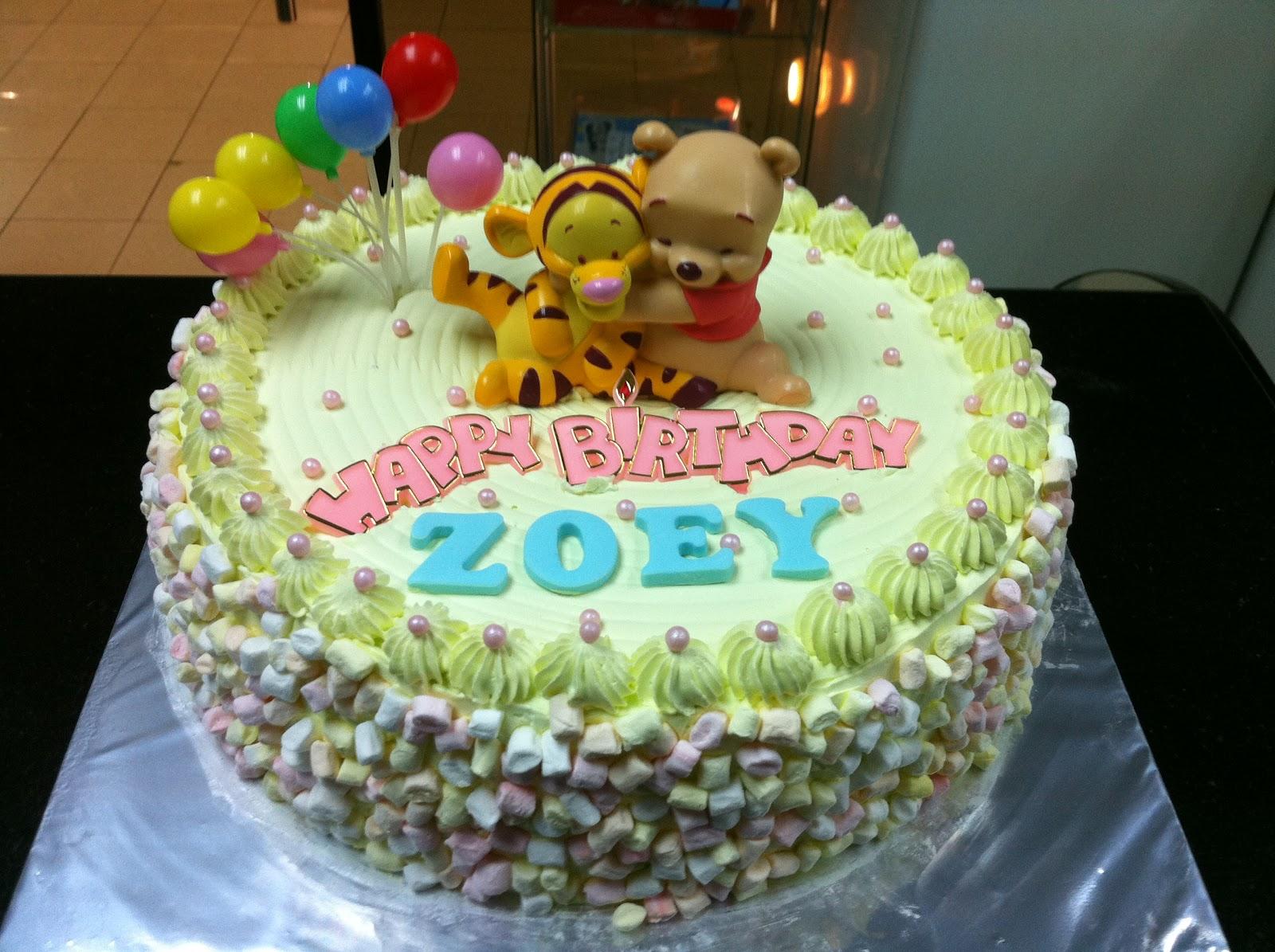 Haven Bakery Zoey Baby Pooh Birthday Cake