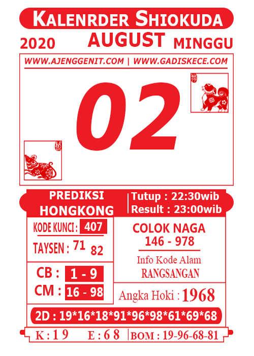 Kode syair Hongkong Minggu 2 Agustus 2020 242