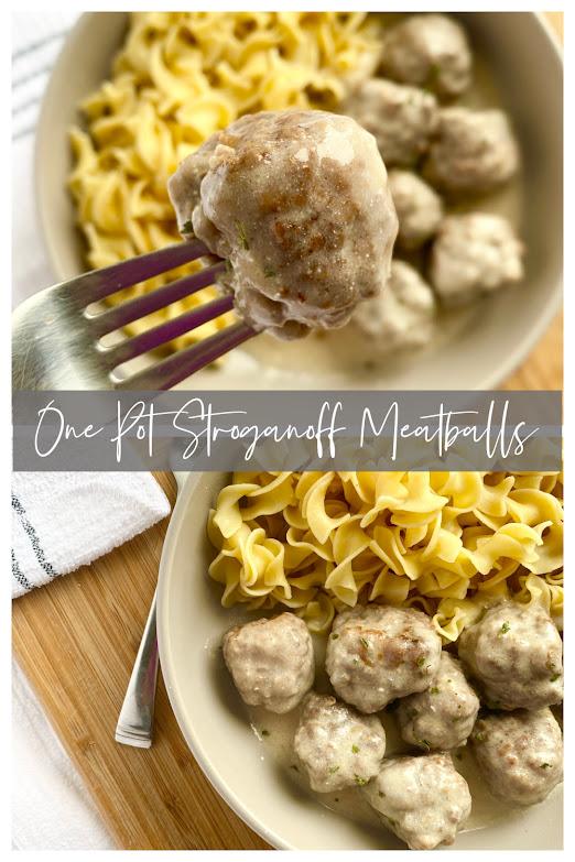 One Pot Stroganoff Meatballs