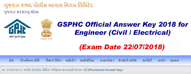 gphc engineer civil electrical provisional answer key declared on https://gsphc.gujarat.gov.in