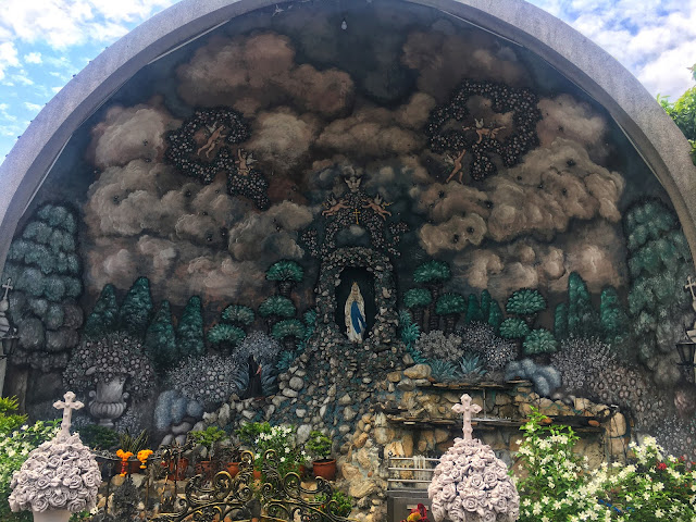 a grotto at Immaculate Conception Church, Bangkok, Thailand