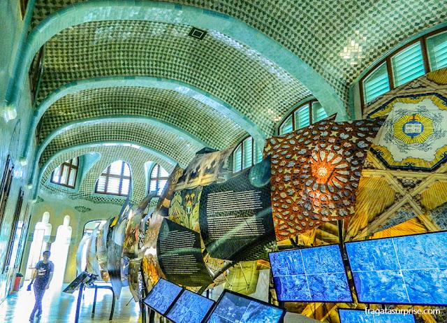 Exposição sobre o arquiteto Domenèch i Montaner no Hospital de la Santa Creu i Sant Pau, Barcelona